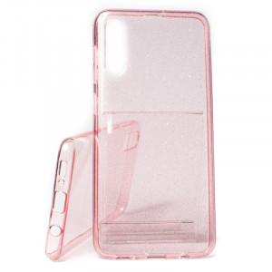 Pouzdro Crystal Glitter Samsung Galaxy A50 A505 Růžové