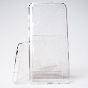 Pouzdro Crystal Glitter Samsung Galaxy A50 A505 Stříbrné