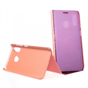 Pouzdro Clear View Samsung Galaxy A20e A202 Růžové