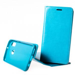 Pouzdro Magnet book Samsung Galaxy A20e A202 Světle modré