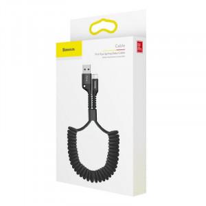 Baseus Fish Eye Spring kábel USB / Lightning Černý (CALSR-01)