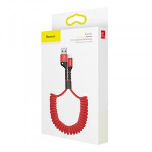 Baseus Fish Eye Spring kábel USB / Lightning Červený (CALSR-09)