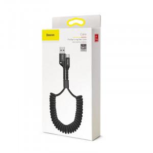 Baseus Fish Eye Spring kábel USB / Typ C Černý (CATSR-01)