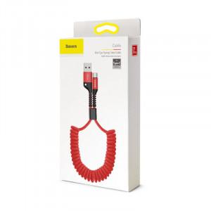 Baseus Fish Eye Spring kábel USB / Typ C Červený(CATSR-09)