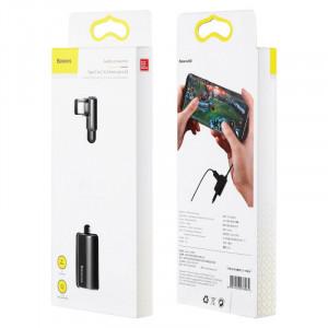 Baseus CATL45-01 adaptér pre USB-C / 3,5mm jack / USB-C čierny
