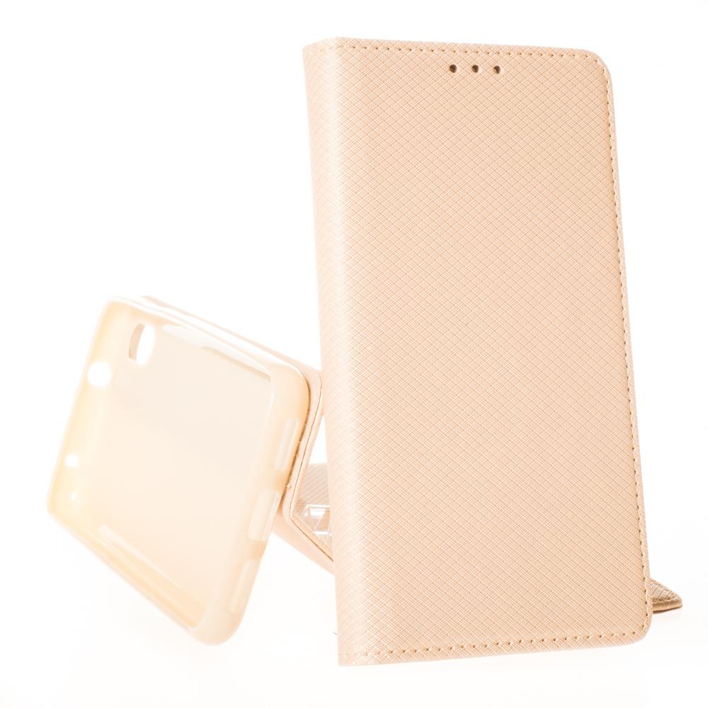 Puzdro Smart Case Book pre Xiaomi Redmi 7A Zlaté