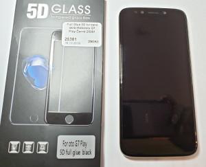Full Glue 5D tvrzené sklo Motorola G7 Play Černé 25381