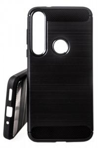 Pouzdro Forcell CARBON na Motorola Moto G8 Plus Černé