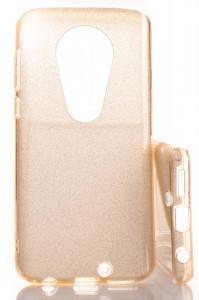 Puzdro Glitter 3V1 Case Motorola Moto G7 Zlaté