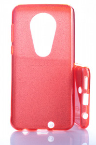 Puzdro Glitter 3V1 Case Motorola Moto G7 Červené