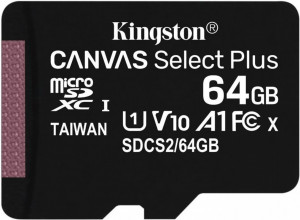 Paměťová karta Kingston Canvas Select Plus MicroSDXC 64GB UHS-I U1 (100R/10W) (SDCS2/64GBS