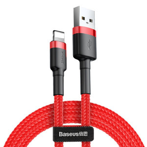 Baseus Cafule USB kábel - iPhone lightning QC 3,0 2m 1,5A red CALKLF-C09