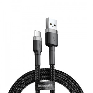 Baseus CATKLF-CG1 USB/ USB-C, QC3.0, 2A ,2m, černo-šedý