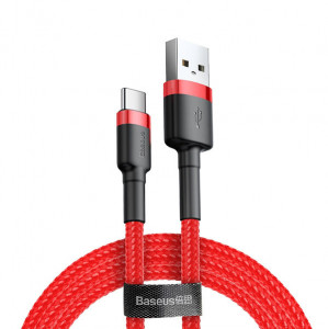 Baseus CATKLF-B09 USB 2.0 - USB-C, 1m, červený