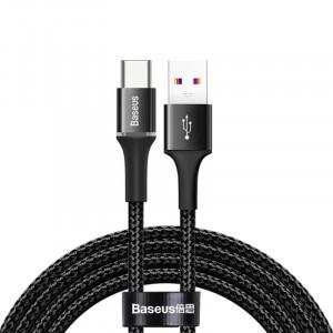 Baseus CATGH-G01 USB / USB C s LED diodou 5A 40W, 1m, černý