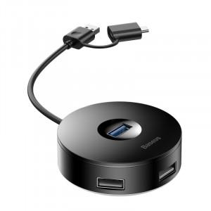 Baseus HUB adapter splitter 3x USB 2.0 / 1x USB 3.0 s 12cm USB / USB Typ C cable +
