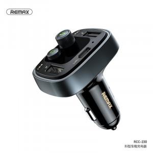 Vysílač REMAX FM + auto nabíjačka 2xUSB 4,8A RCC230