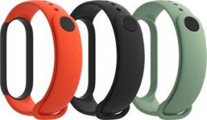 Xiaomi Mi Band 5 náhradní náramky Black, Orange, Cyan 29764