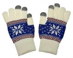 Dámské rukavice NORDIC pro dotykové displeje white