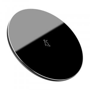 Baseus bezdrátová nabíjačka Simple, 15W, čierna WXJK-B01
