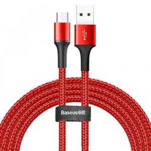 Baseus Kábel USB Halo Micro USB 2A 2 metry CAMGH-C09 Červený