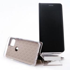 Puzdro Vennus Book Silver Motorola Moto G 5G Černé