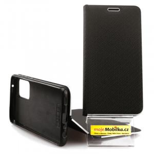 Pouzdro Vennus Book Carbon Samsung Galaxy A52 LTE/5G, A525 / A526 Černé