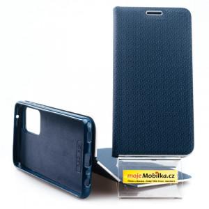 Pouzdro Vennus Book Carbon Samsung Galaxy A52 LTE/5G, A525 / A526 Modré