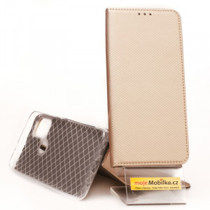 Puzdro Smart Case Book Motorola G30 Zlaté
