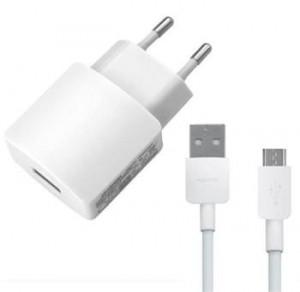 HW-050200E01W Huawei USB Cestovní nabíjačka + microUSB Dat. Kábel White (Bulk)