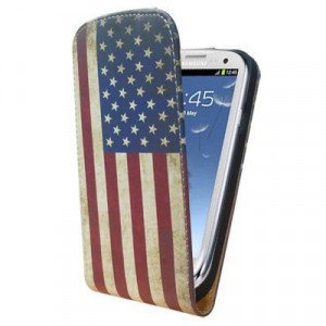 Pouzdro Slim Flip Case 2 Samsung G900 Galaxy S5 American Flag