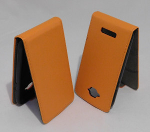 Pouzdro ForCell Slim Flip Flexi Alcatel One Touch Pop C7 Oranžové