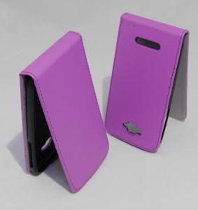 Pouzdro ForCell Slim Flip Flexi Alcatel One Touch Pop C7 Fialov?