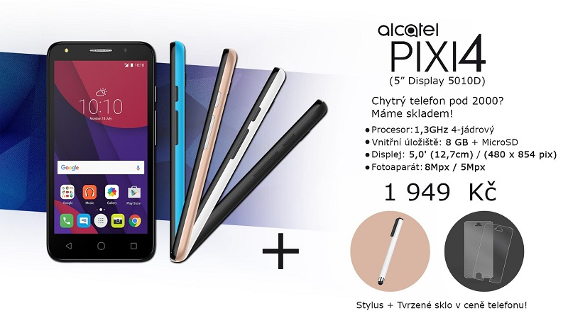ALCATEL PIXI 4 (5) 5010D Metal Silver