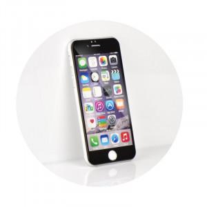 Ochranné tvrzené temperované 5D sklo pro iPhone 6 4,7´´, černá 20385