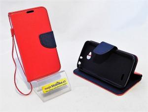 LG L70 / D320 - Pouzdro Fancy Case - Červené