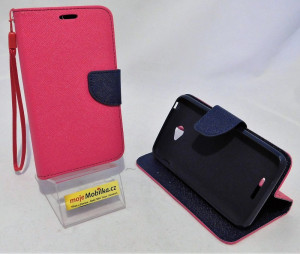 Pouzdro TEL1 Fancy Diary Sony Xperia E4 E2105 Růžové