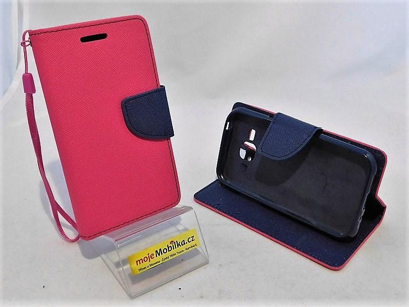 Puzdro TEL1 Fancy Diary Samsung Galaxy J1 J100 Růžové