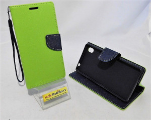 Pouzdro TEL1 Fancy Diary Sony Xperia M4 Aqua E2303 Lemon