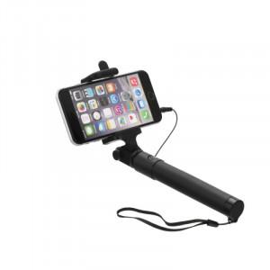 Selfie držiak s dálkovým ovládáním v rukojeti (3,5 mm jack kábel) Černá