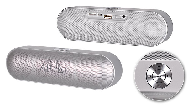Reproduktor APOLLO with Radio Silver