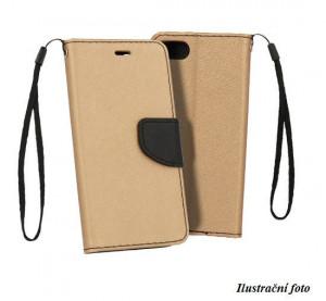 Pouzdro Telone FANCY Diary Xiaomi Mi A2 Lite Zlato-černé