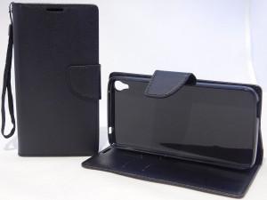 Puzdro Fancy Case Alcatel Idol 3 6045Y 5.5 Černé