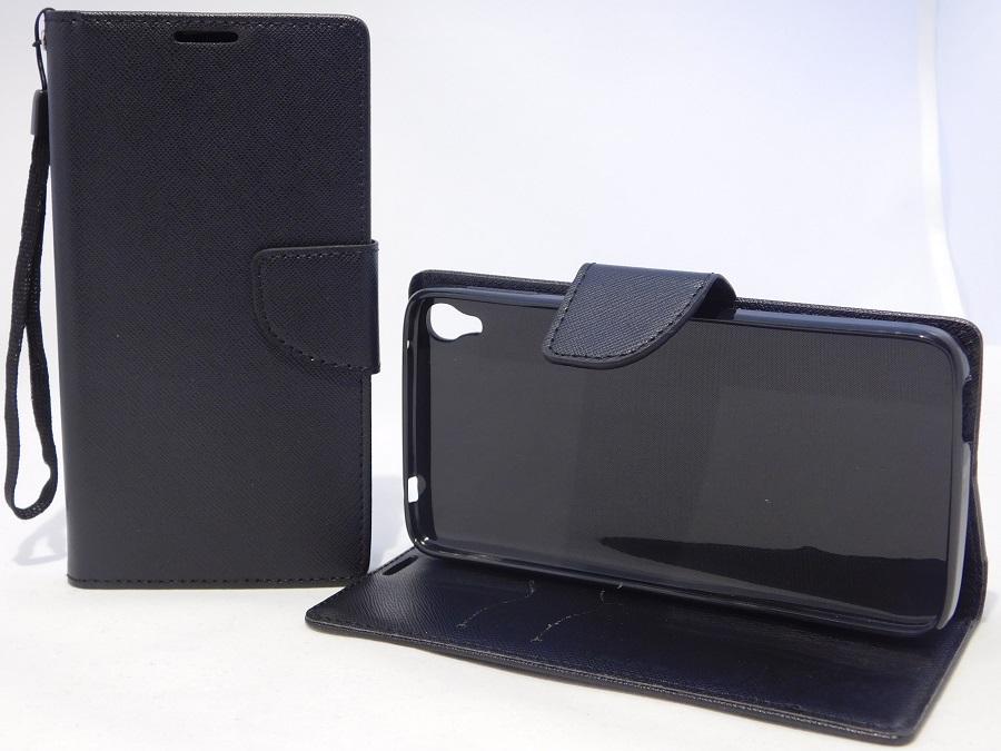 Pouzdro Fancy Diary Book Alcatel Idol 3 černé