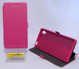 Pouzdro Book Flexi Pocket Sony Xperia M4 Aqua E2303 Růžové
