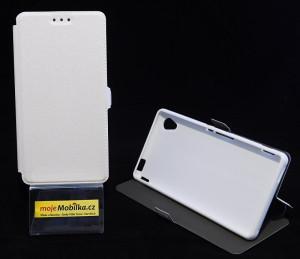 Pouzdro Book Flexi Pocket Sony Xperia M4 Aqua E2303 Bílé
