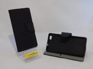 Pouzdro Fancy Denim Huawei Ascend P8 Lite Černé