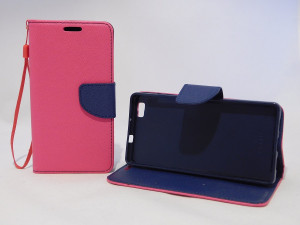 Pouzdro TEL1 Fancy Diary Huawei Ascend P8 Lite Růžové