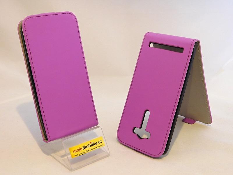 Pouzdro Forcell Slim Flip flexi Asus Zenfone 2 Laser ZE550KL 5.5 Fialové