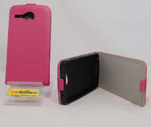Pouzdro Forcell Slim Flip flexi Acer Z520 Růžové